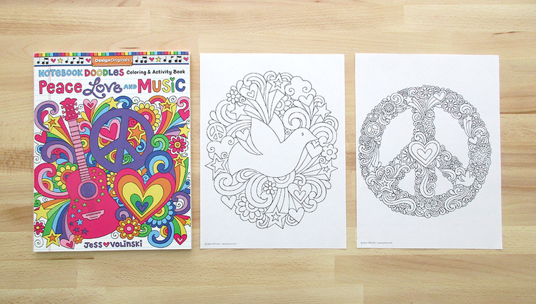 Notebook Doodles Peace Love And Music Is A Groovy Escape Inspired By The Sounds Styles Of 60s 70s Turn On Your Favorite