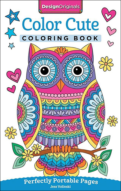 MINI COLORING BOOK At 5 X 8 Design Originals New On The Go Series Is Perfect Size To Slip Into Your Bag For Creativity