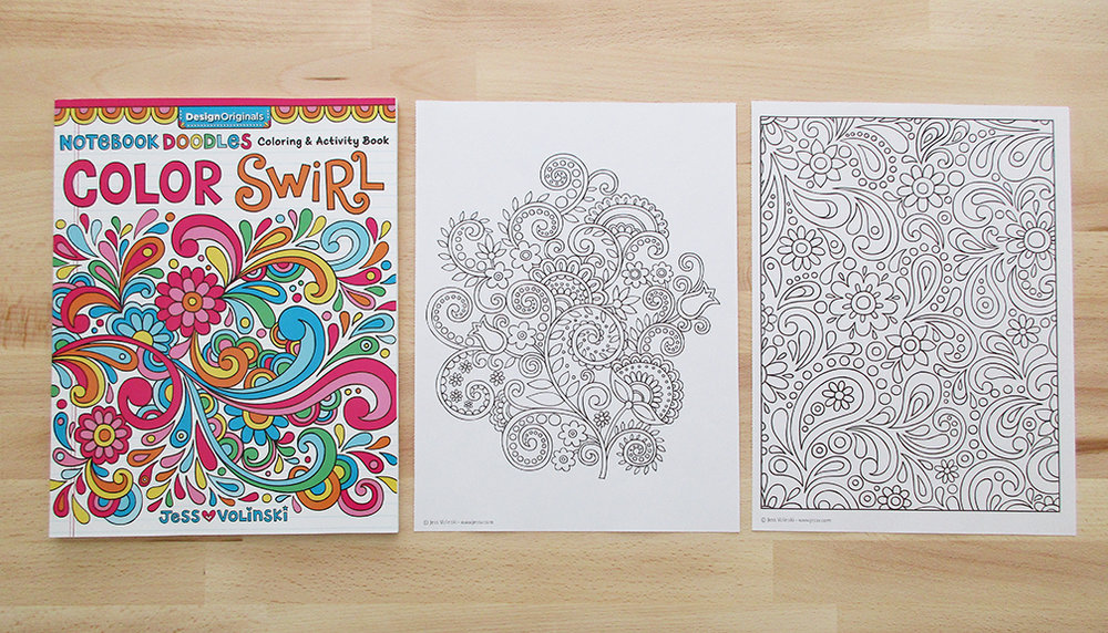 The Notebook Doodles Color Swirl Coloring Book Is Full Of A Variety Abstract And Swirling Designs This Great For Colorists Just Starting Out