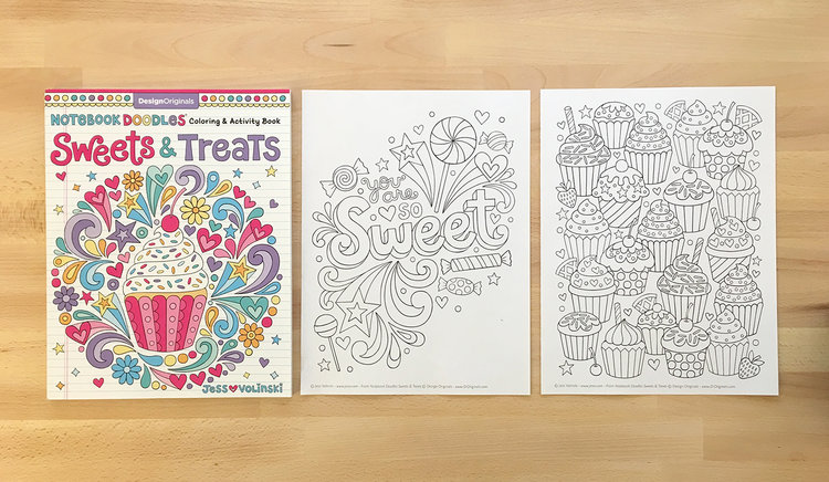 Notebook Doodles Sweets Treats Is Filled With Yummy Coloring Pages Inspired By Some Of My Favorite Colorful Desserts Get A 7 Page Color