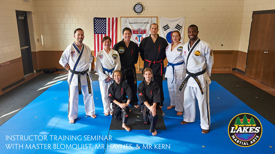 On Saturday, Lakes Martial Arts held an all-day Instructor Leadership Training Seminar at their new location, the Armatage Recreation Center.