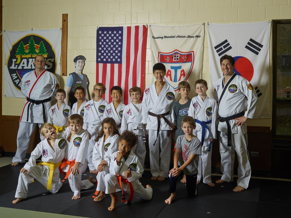 13 students completed the Lakes Martial Art's Bully Prevention Seminar last Saturday.