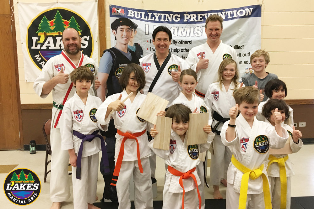 OVER 175 STUDENTS HAVE PARTICIPATED IN THE BULLY PREVENTION SEMINARS AT LAKES MARTIAL ARTS SINCE APRIL 2015 PLUS OVER 500 KIDS THROUGH THE MINNEAPOLIS SAFETY CAMP HELD EACH SUMMER. JOIN US TO PUT AN END TO BULLYING!
