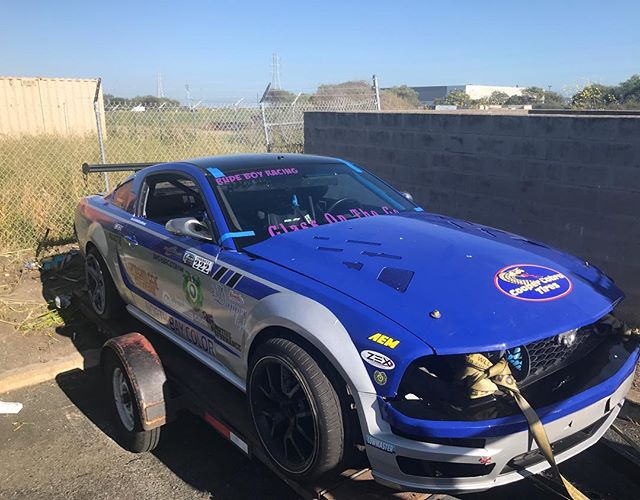@corbettcustoms came by before a drift day a few weeks ago and needed some vinyl for his drift car. Of course we hooked him up with that @glassonthego decal and one of our own. Let us know if you need any work done  #rudeboyracing #ford #mustang #sonomadrift #sonoma #sonomaraceway #norcal #glassonthego #vinyldecals #vinylwork #vinyl