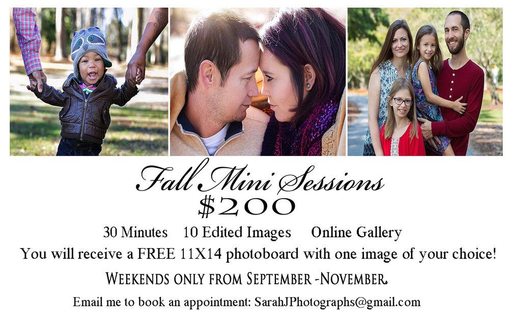 Deals Specials Sarah J Photography