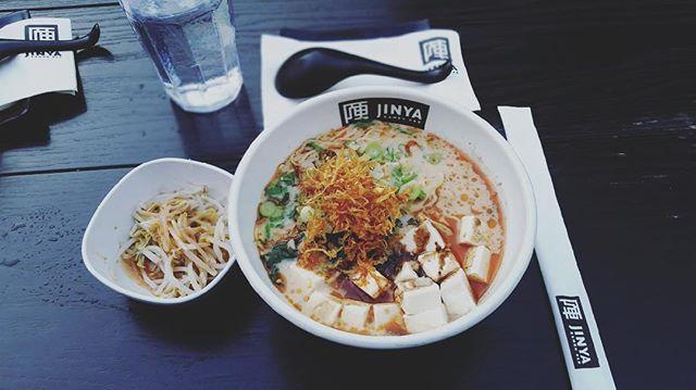 1st Ramen experience   Spicy Vegan 🍜 @jinyaramenbar
