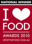 National Winner I love Food Awards