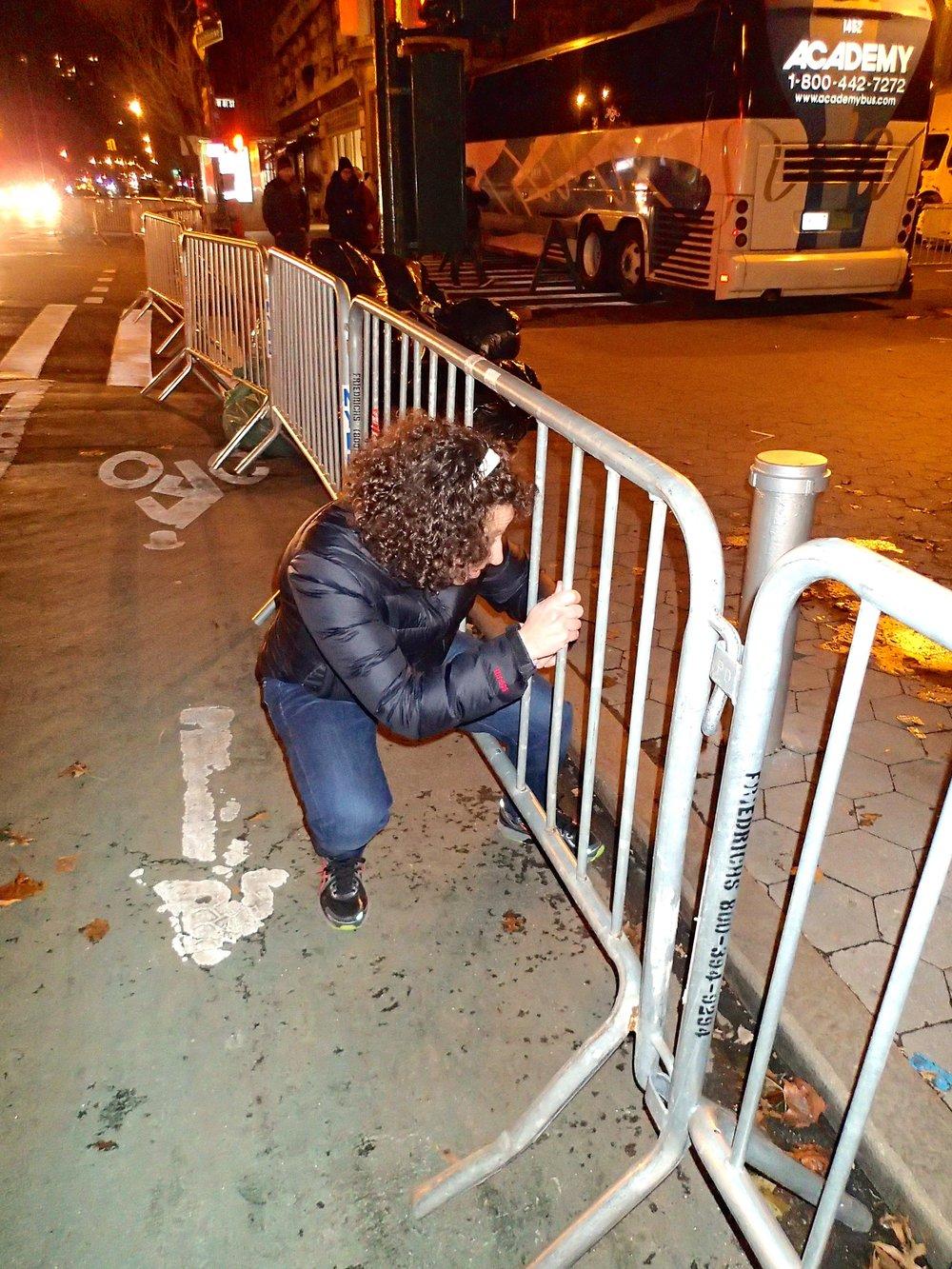 Jill sneaks through a fence.jpg