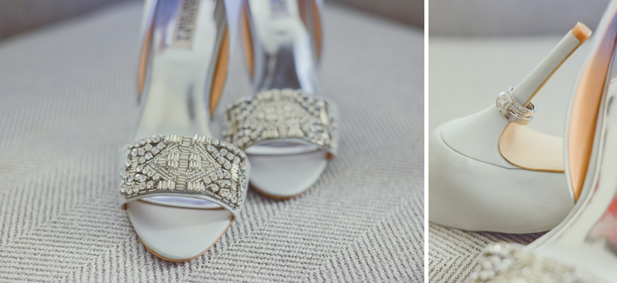 bride shoes and rings