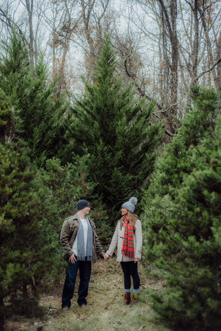 KrisandraEvans.com | Atlanta Engagement Photographer | Minters Christmas Tree Farm