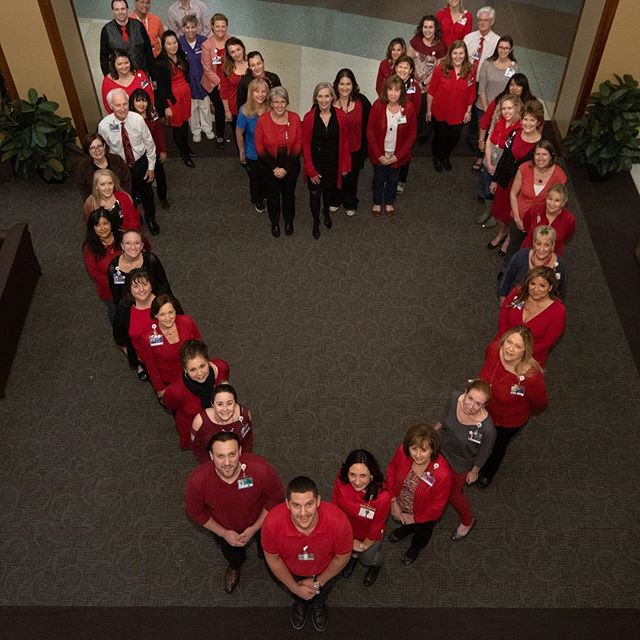 It's National Heart Health Month! Lutheran staff and physicians showed support by wearing red today!