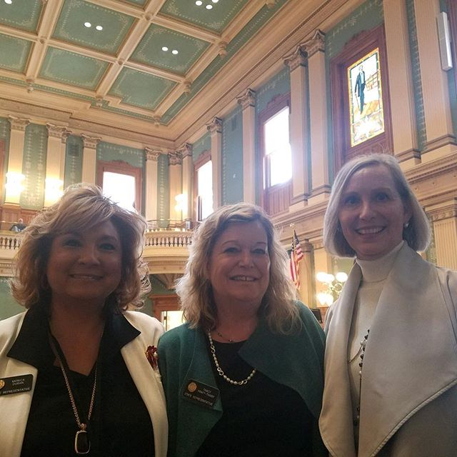 Representative Monica Duran HD24, Representative Tracey Kraft-Tharp HD29 and Carol Salzmann, VP of Community and Government Affairs at Lutheran Medical Center hosted the Colorado Women's Chamber Day at the Capital!