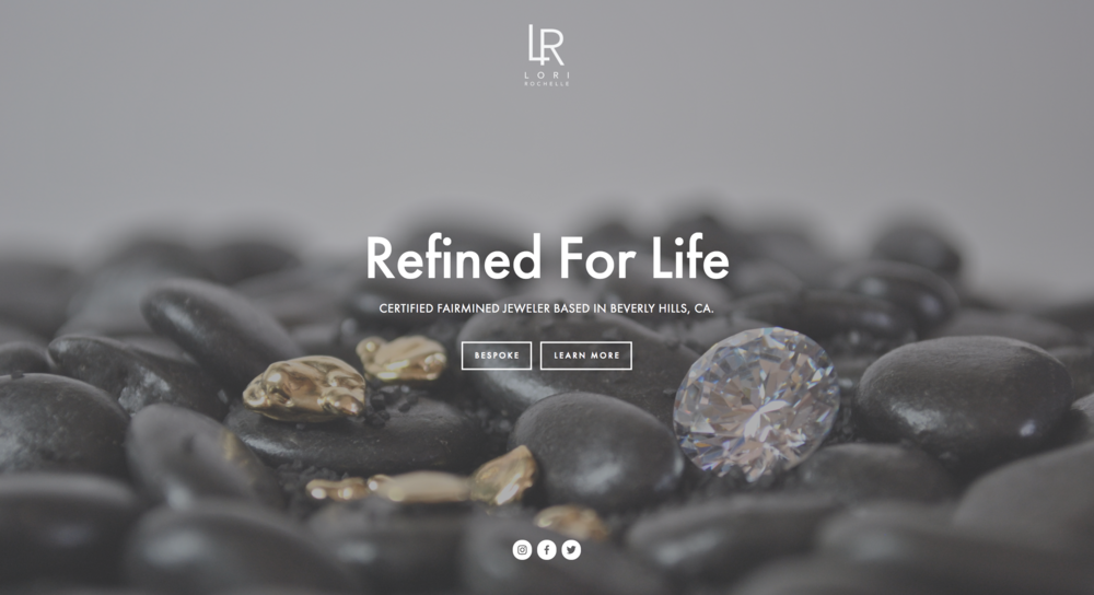 Certified Fairmined Jeweler website: Lori Rochelle
