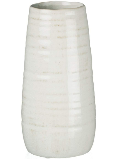 Sullivans Ceramic Vase, 11.5 x 5 Inches, Distressed White (CM2496).jpeg