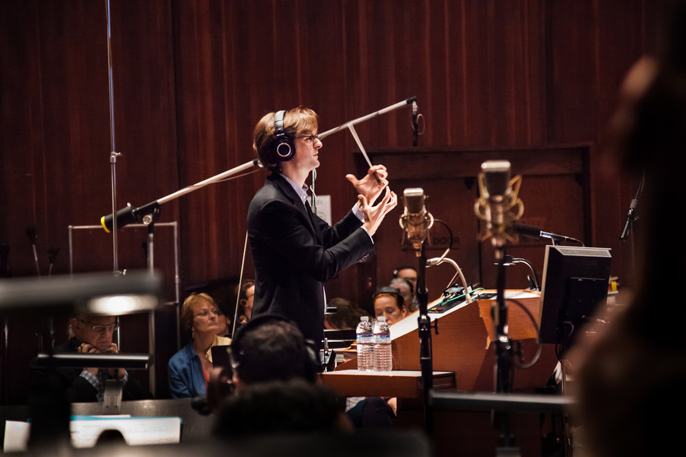 Conducting at the Warner Brothers Eastwood Scoring Stage