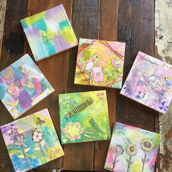 Aug. 2016  Paint + Doodle + Collage at The Weathered Feather in Riverside