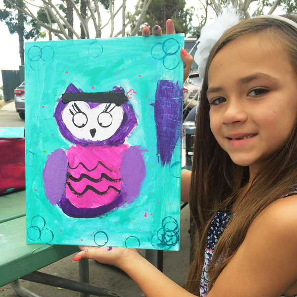 June 2015  Who, Who Wants to Paint and Owl? Private Paint Lesson