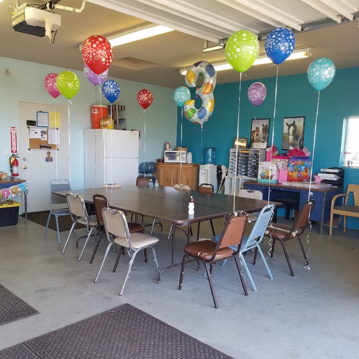 You can decorate our Ranch classroom for your party.