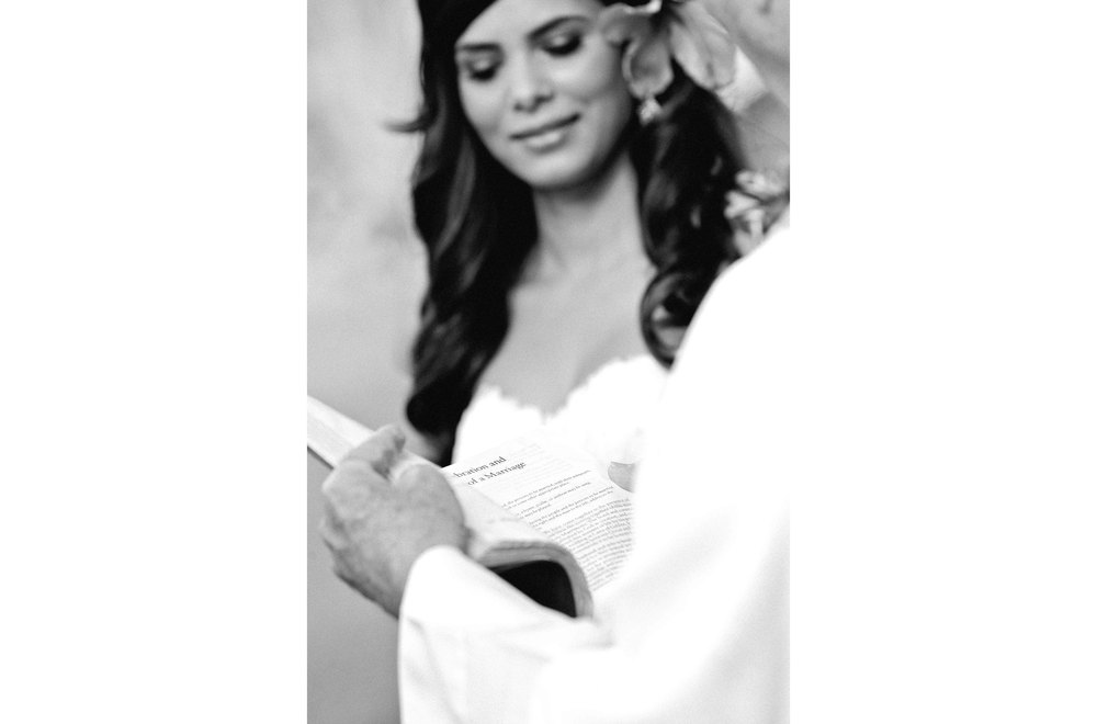 Black and White Wedding Photography of Ceremony