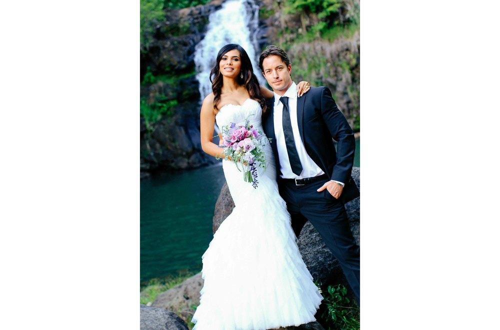 Bride and Groom Waimea Falls