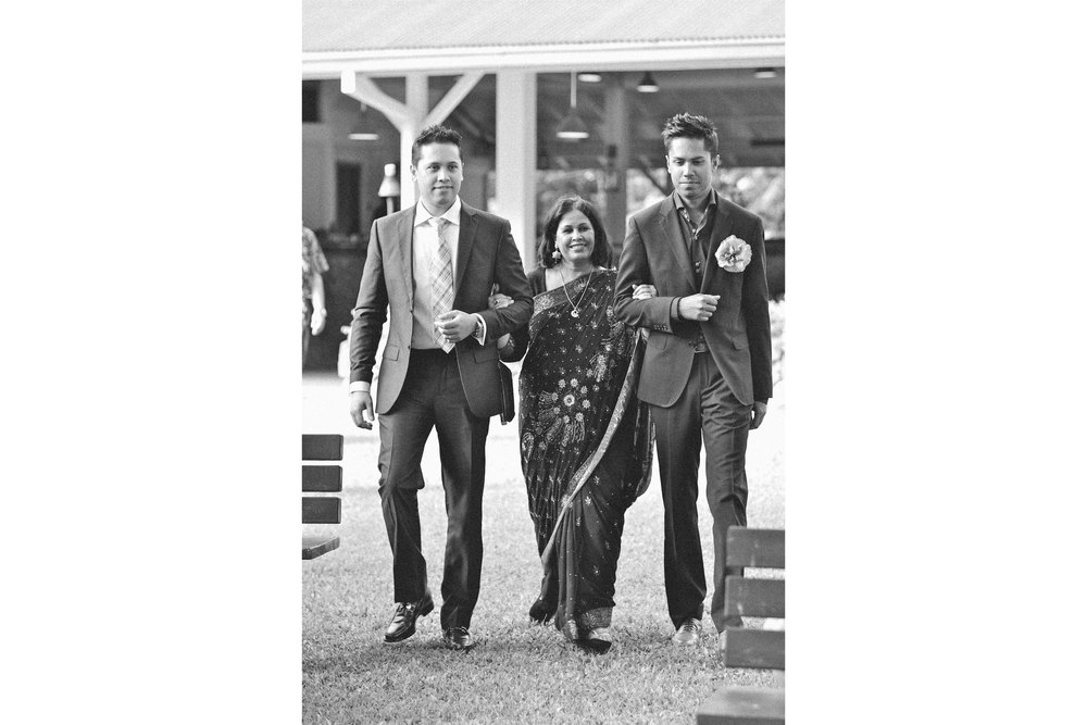 Black and White Wedding Photography Indian Family