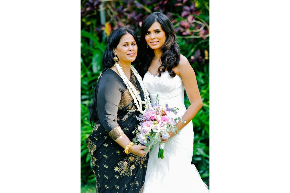 Portrait of Bride and Mother
