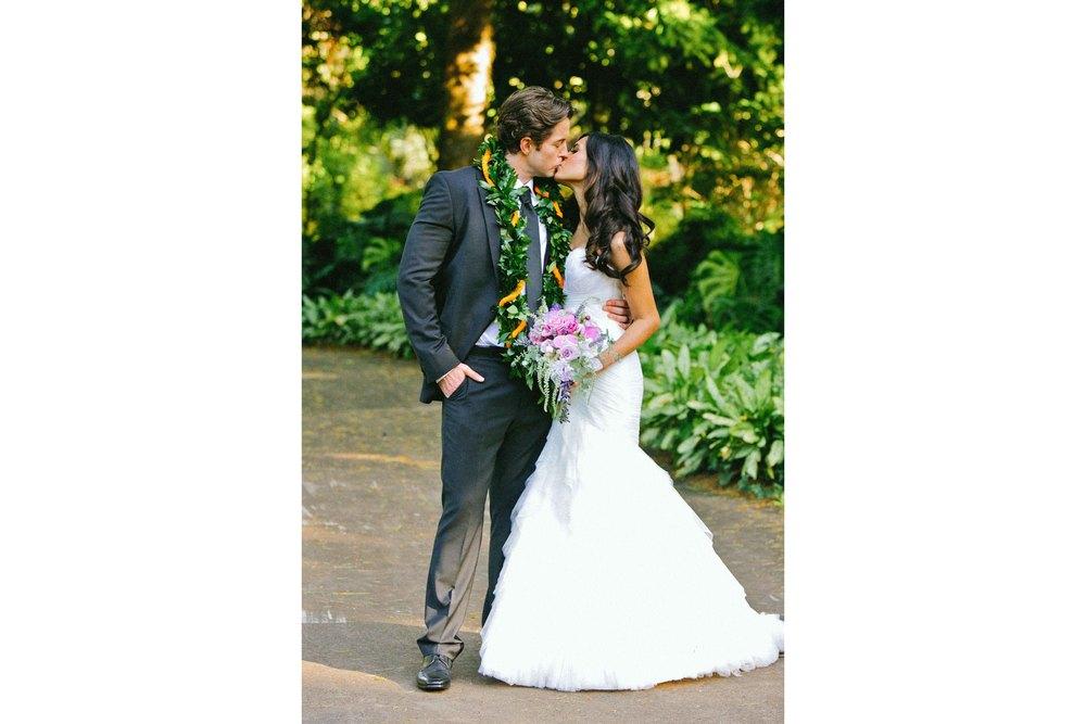 Haleiwa Wedding Photography Kiss