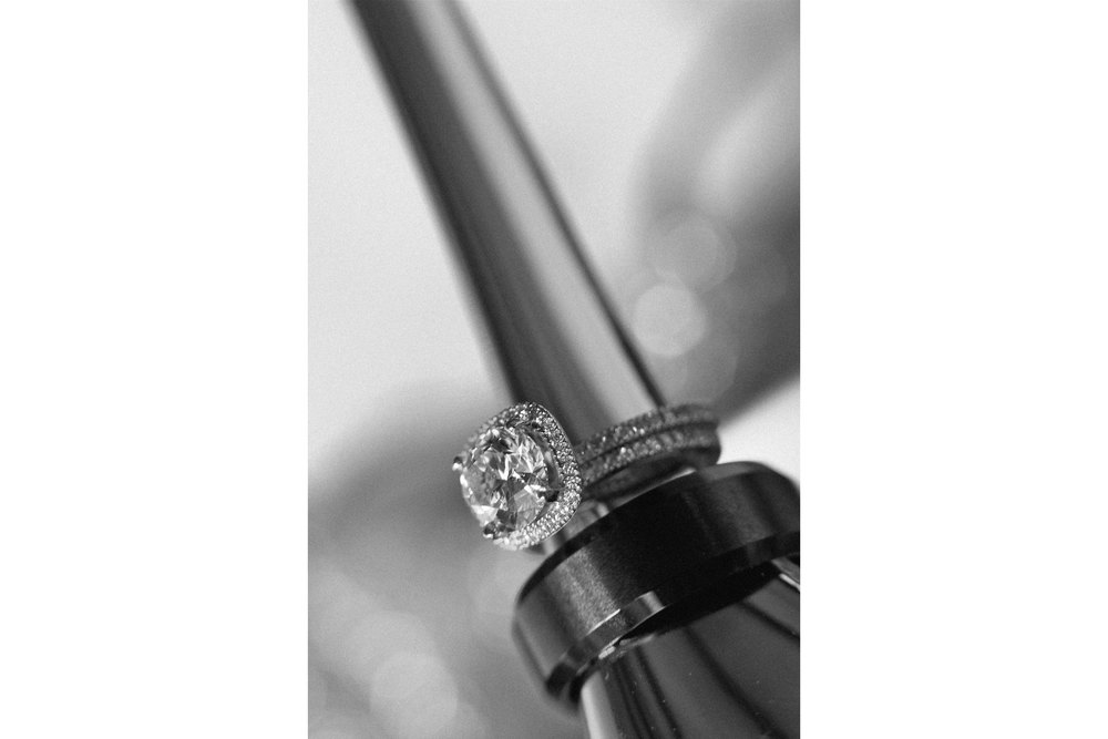 Black and White Wedding Photography Rings