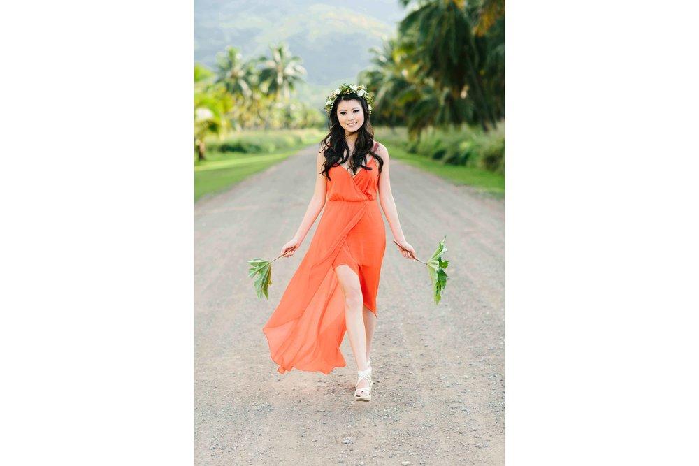 Bride all dressed in Orange
