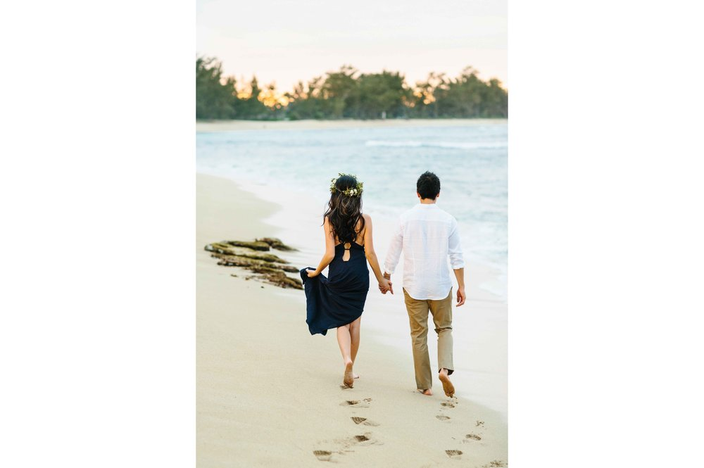 Walking On a Beach In Hawaii