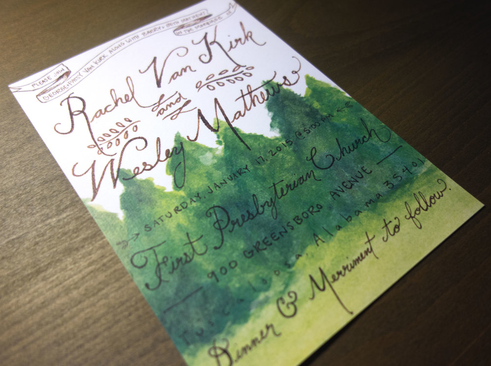 Matthews Wedding Invitation
