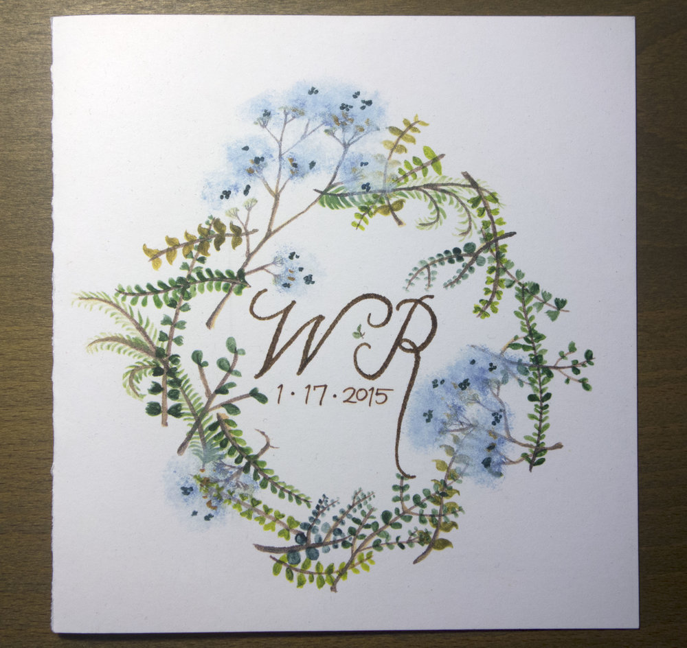 Matthews Wedding Program—Front