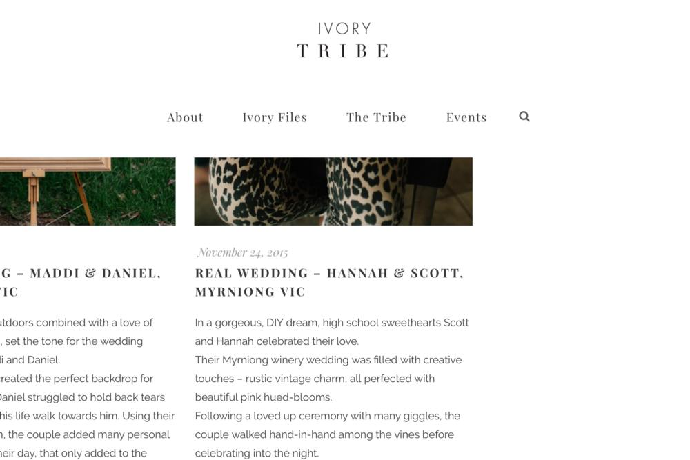 Scott + Hannah / Ivory Tribe