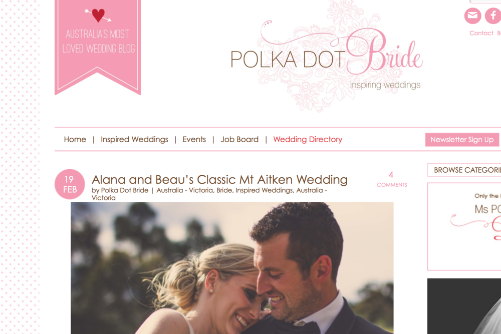 Beau + Alana / Polka Dot Bride