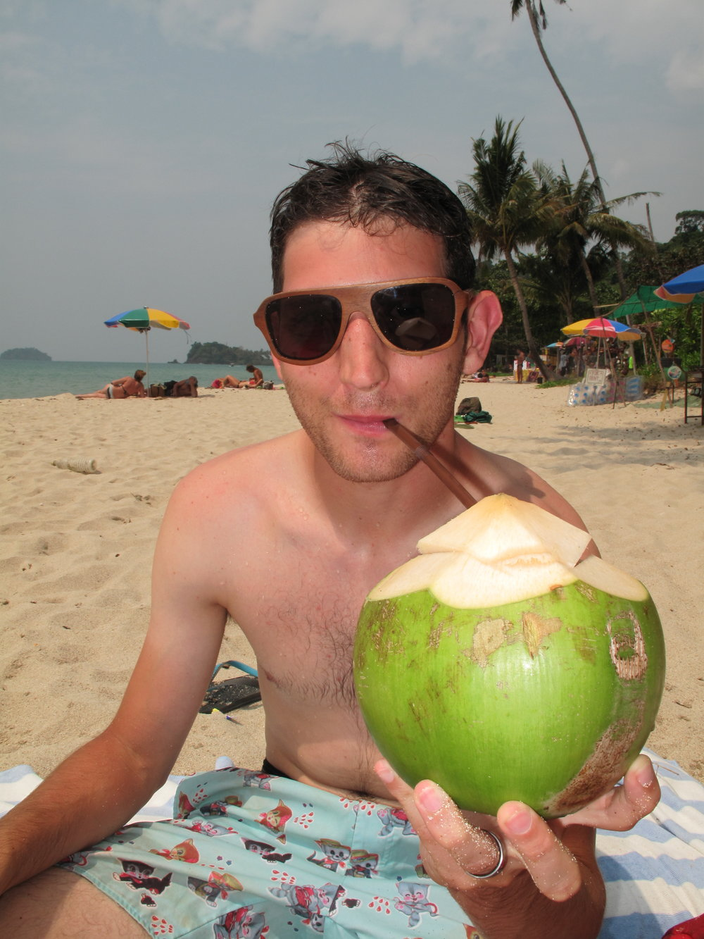 Coconut shakes on the beach, Ko Chang