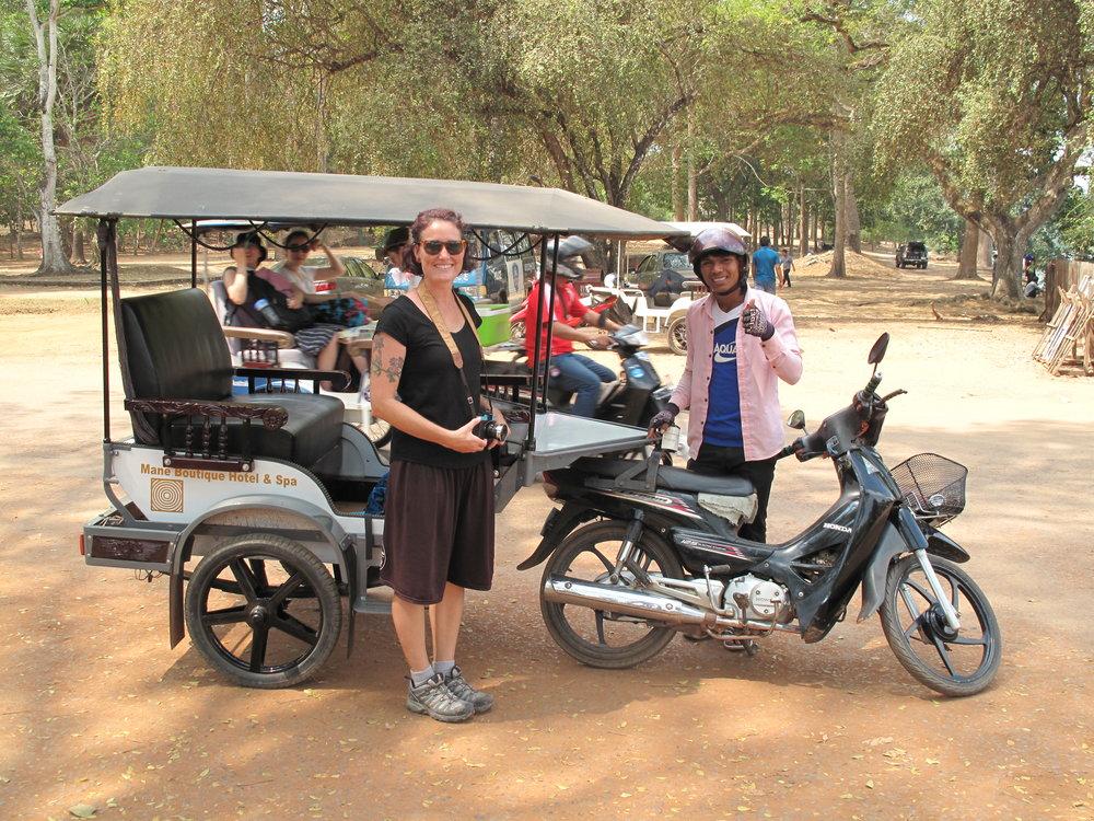 Mr Smey's tuk tuk, Temples of Angkor, Siem Reap