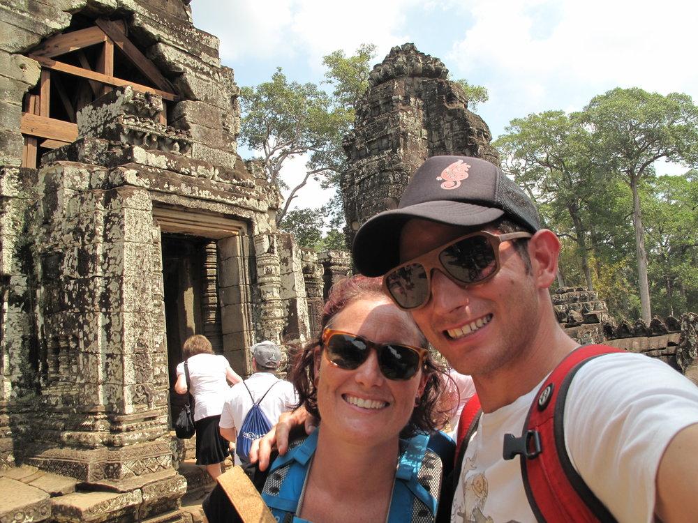 Bayon Temple selfie, Siem Reap