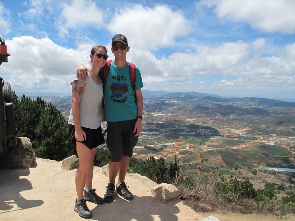 First peak, Three Peaks hike, Dalat