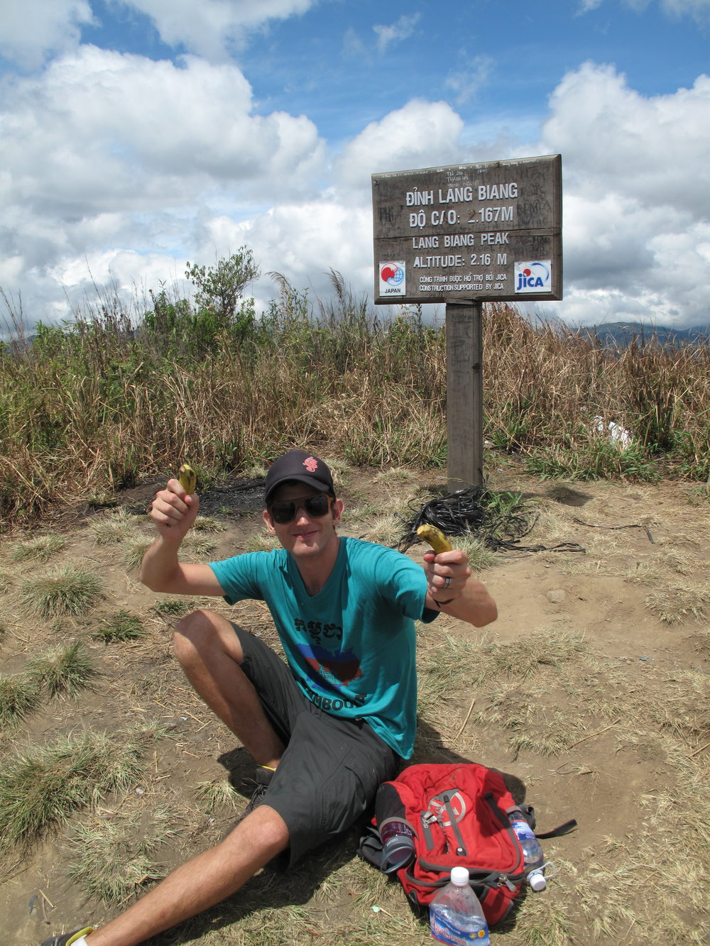 We did it! Lunchtime, Three Peaks hike, Dalat