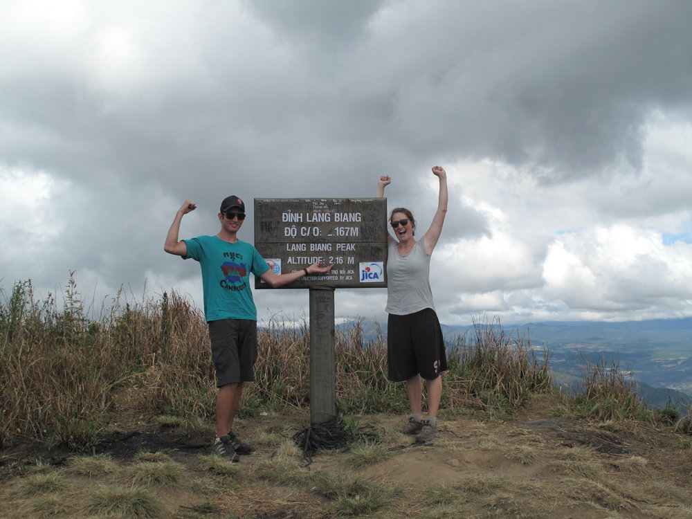 We did it! Three Peaks hike, Dalat
