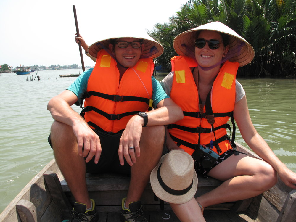 Heading out on the fishing boat, Hoi An