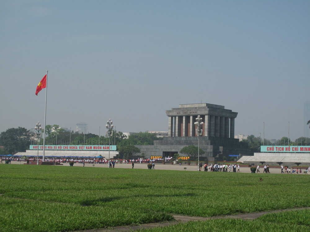 The closest we got to Ho Chi Minh's mausoleum