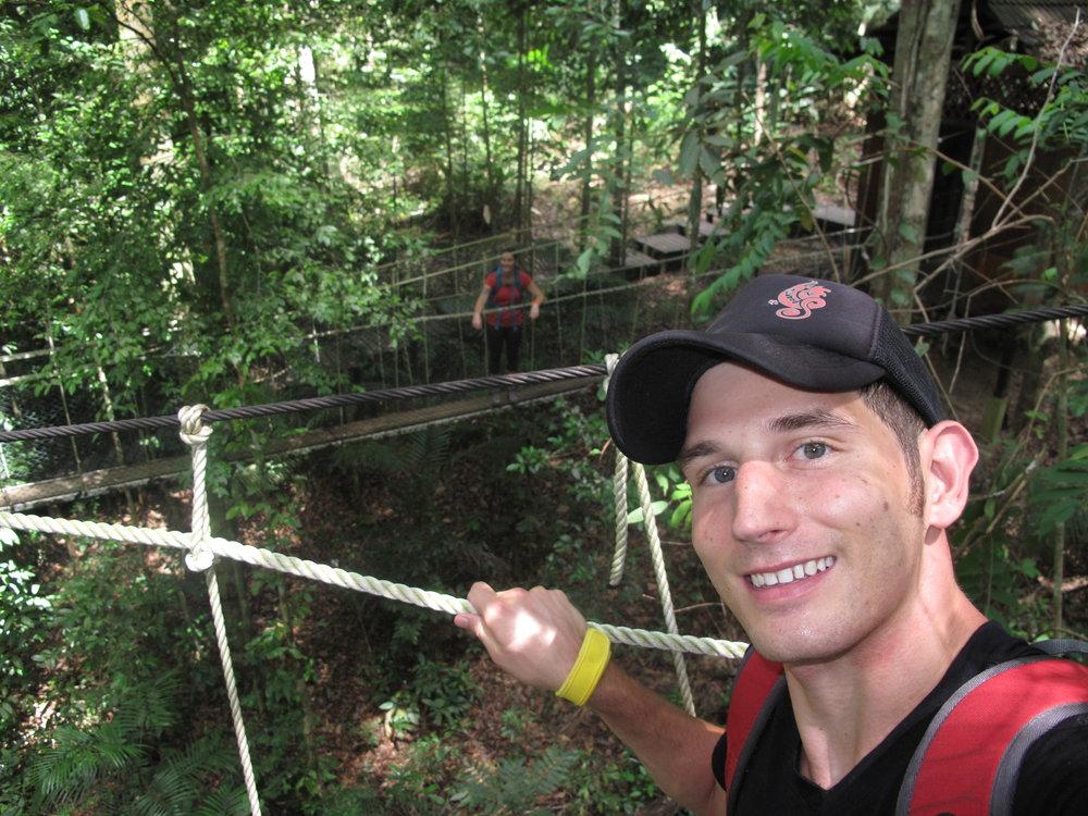 Canopy walkway selfies