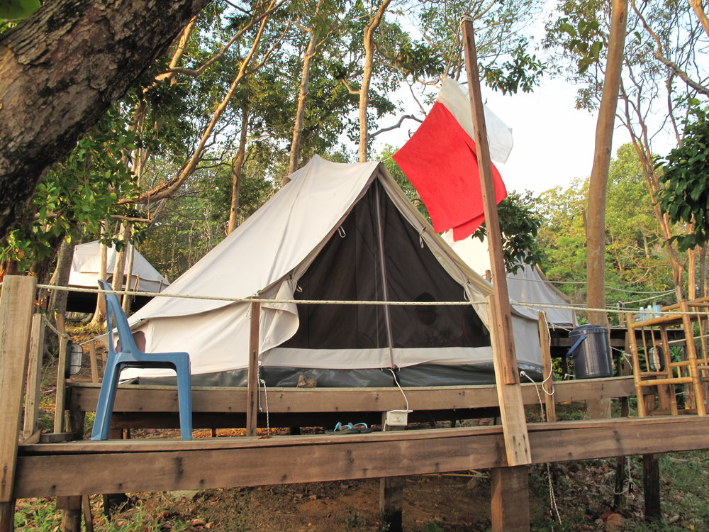 Our accommodation in  Koh Chang, Thailand  - affectionately nicknamed 'Bert the Yurt'.