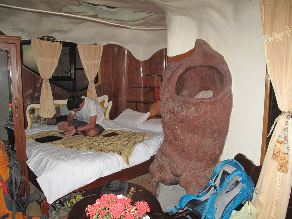 Our kooky, wee-smelling room in the  Crazy House  in Dalat, Vietnam