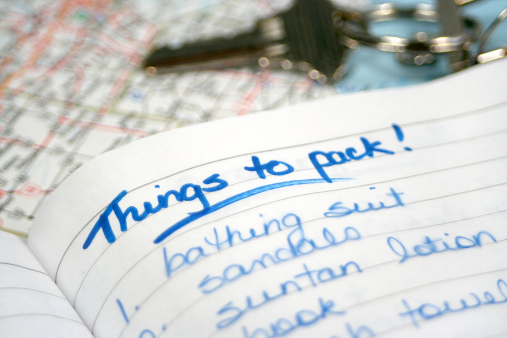 Packing List, Long Term Travel, Round the World Travel