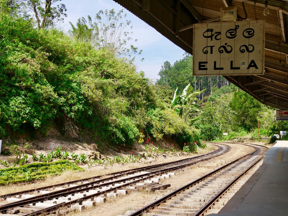 Ella Train Station, looking right. Go the other way!
