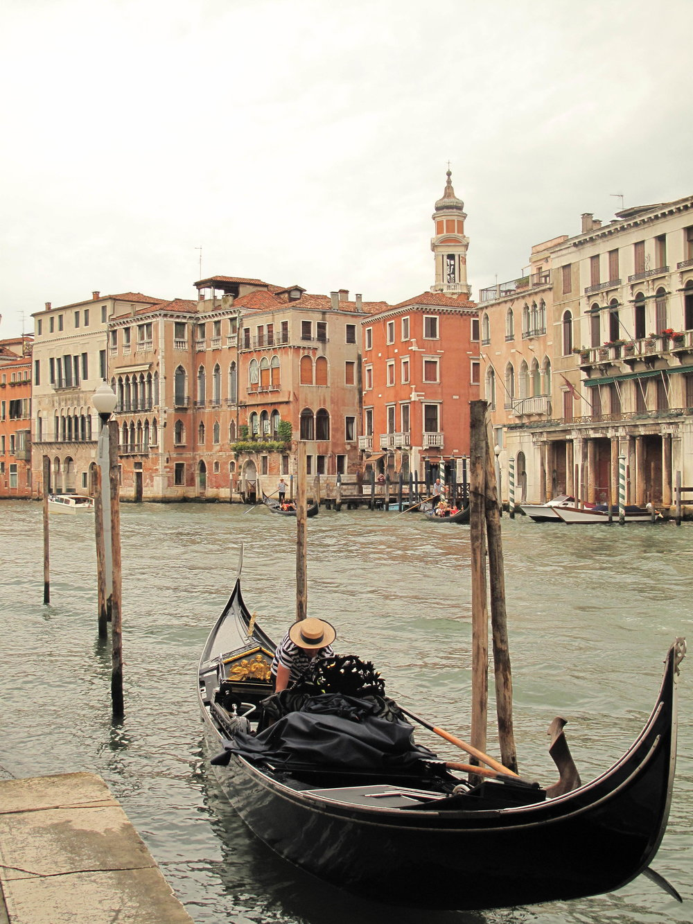 Couldn't go on a gondola ride in Venice, because I'd throw up