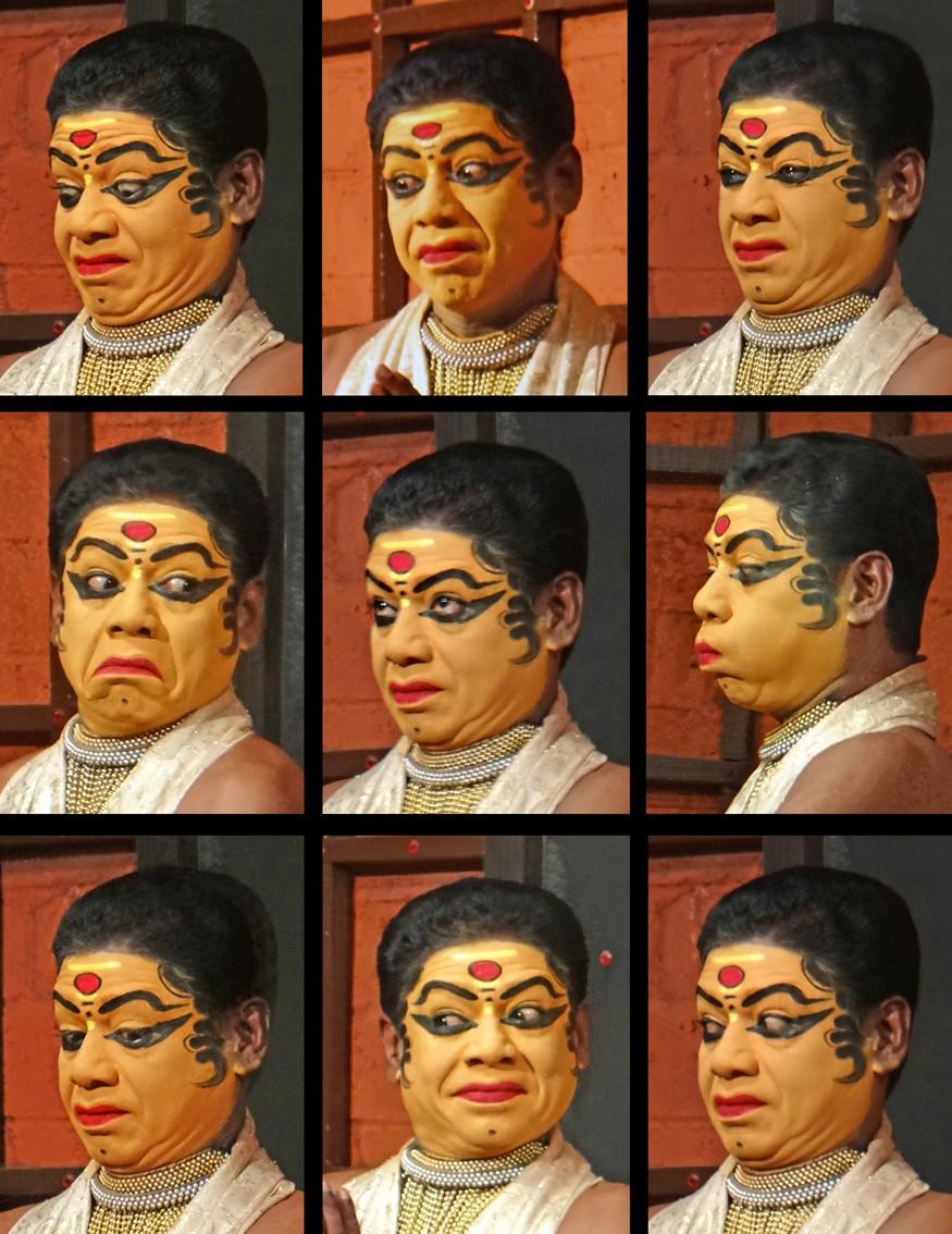 Kathakali facial expressions