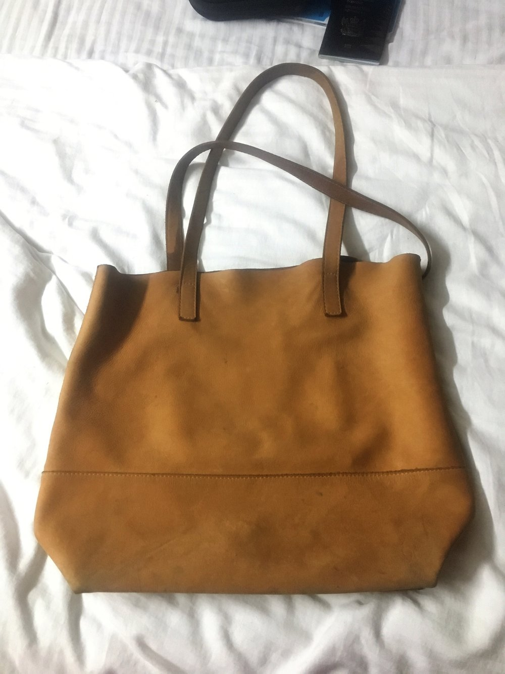 My beloved handbag with nothing in it